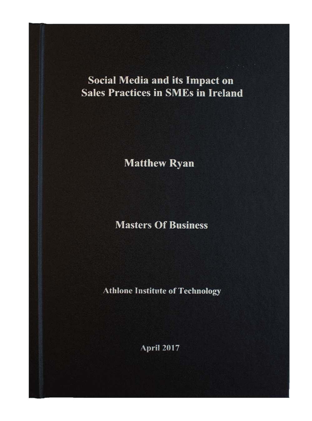 Masters thesis page number