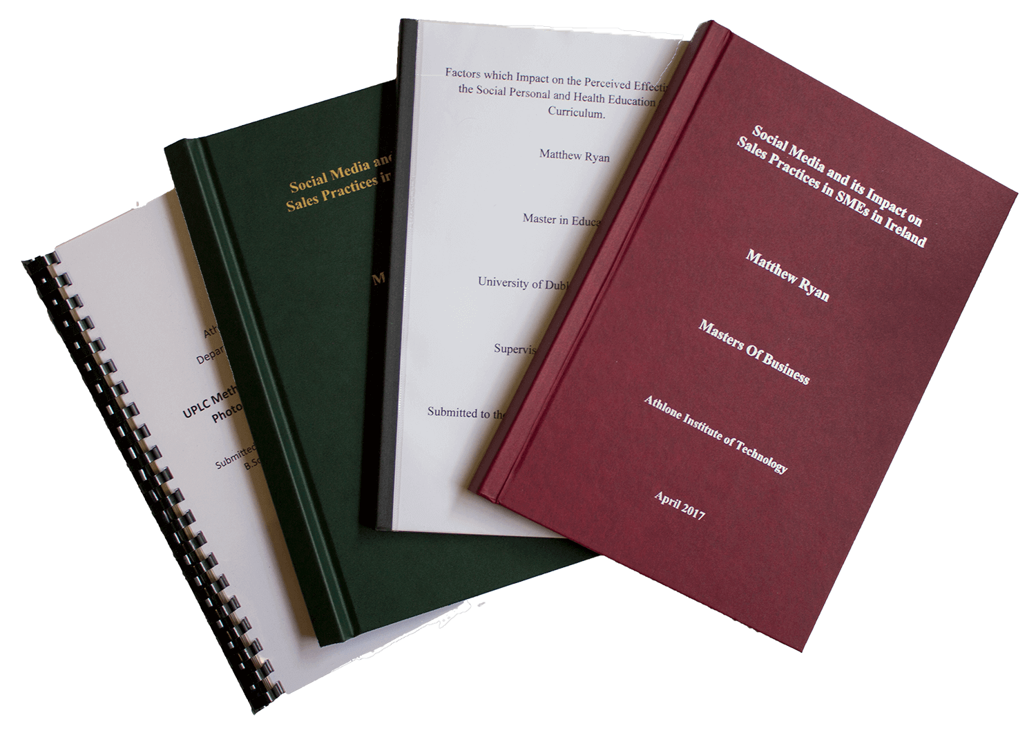 thesis binding service There are 5 different types of binding available for dissertations and thesis check with your academic unit which you require.