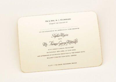 Wedding Invite Traditional