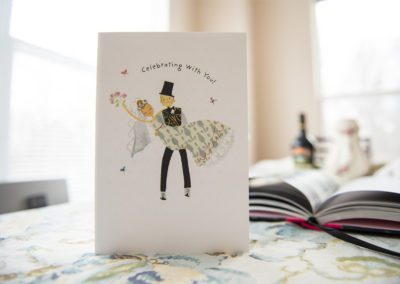 an invitation card for wedding
